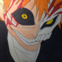 Bleach Ichigo Kurosaki hallow drawing by Quetzal890