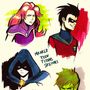 Teen Titans Portraits by LemKuuja