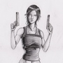 lara croft sketch by tbcoop
