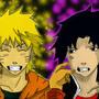 Naruto & Sasuke coloured by SlydeMaster