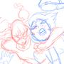Under Girl action sketch by ultrafem