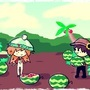 Pete, Mint, and The Watermelon Patch. by Bertn1991