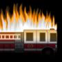 Fire Truck on Fire by Domonization