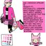 Neko Character Bio Sheet by Hurumi