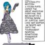 Lincia Character Bio Sheet by Hurumi