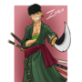 One Piece - Roronoa Zoro by DeeSeeDraws