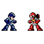 Mega Man and Proto Man (X Version) by EckitronK176