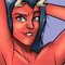 Demon lady pin up