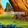 Giant rock landscape concept game art :) by Steelartstudios