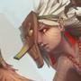 Harpy shaman by Cenaf