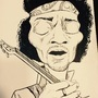 Jimi Hendrix Caricature by Os1r1s88