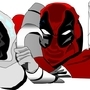 Moon Knight and Deadpool by Red-Lantern