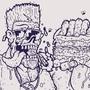 ZOMBRO eats JUMBO by Bugdog001