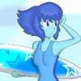 Surfer Girl Lapis Lazuli by Mrcrab