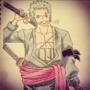 Roronoa Zoro (One Piece) by Vespar