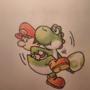 Yoshi & Baby Mario by Vespar