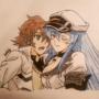 Tatsumi & Lady Esdeath (Akame ga Kill) by Vespar