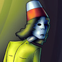 Character: Buckethead by DarkNeedle101