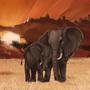 Sunset Elephants by NyxKitsune