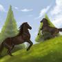 2 Horses by Furankika
