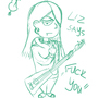 "Liz says ""Fuck it"" by sketchingrogue"