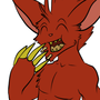 Keru Eating Peanuts by PsychoticRat