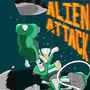 MechaBetty Alien attack poster by titankore