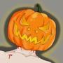 Pumpkin Head Pin-up by cryinglazerbeam