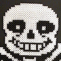 Undertale's Sans Made Out of Perler Beads