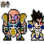 Saiyan Prince Vegeta and Nappa Sprites by morganstedmanmsNG