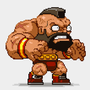 Pixel Zangief by JohnnyUtah