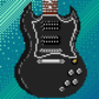 2012 Gibson SG Special - Pixel Portrait by Koburg