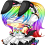Rainbow Techno Bunny by DemonQueen402