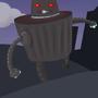 Killer Robot Trash Can Monster by Jindo