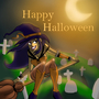 trixie the witch saying happy halloween by boredsteve