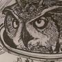 Inktober: Owl show you the stars by Rhunyc