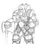 Dwarf pyromancer sketch by DikkiDirt