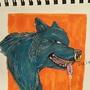 Inktober wolf by TheGrinningApple