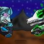 Glaciate Vs Skullblaze by Madnesscrazy123