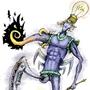 Pomechaly, the alien mechanical octopus ( colored ) by Artxel
