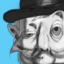 Bowler Hat Man 3rd study - basic shape variation