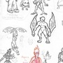 Some Characters and Monsters in my Stock by Emersomatic