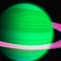 Green Planet with Pink Rings by KewinLan