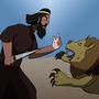 Nimrod fights a Lion by Mazeman712