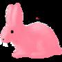 pink bunny by BOBtheROSS