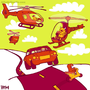 Helicopters and Cars by yellowbouncyball