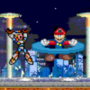 MegaMan X vs. Mario by FlameMasterX