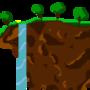 Flying Island (Terraria) by HalfMilk