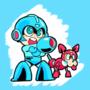 Megaman doodle by Oponok