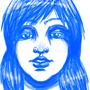 Blue Portrait by RainbowDogma
